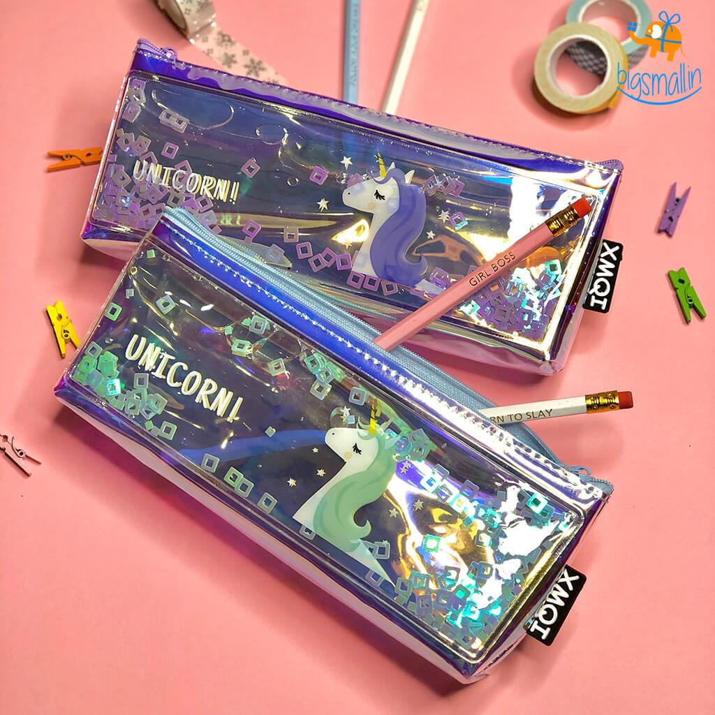 Holographic Unicorn Pouch - bigsmall.in