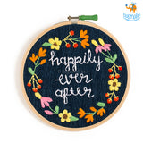 Happily Ever After Embroidery Hoop Wall Art