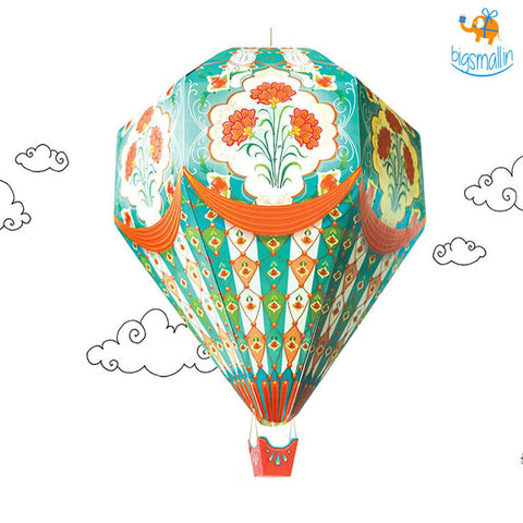 DIY Hot Air Balloon Lamp Shade - bigsmall.in