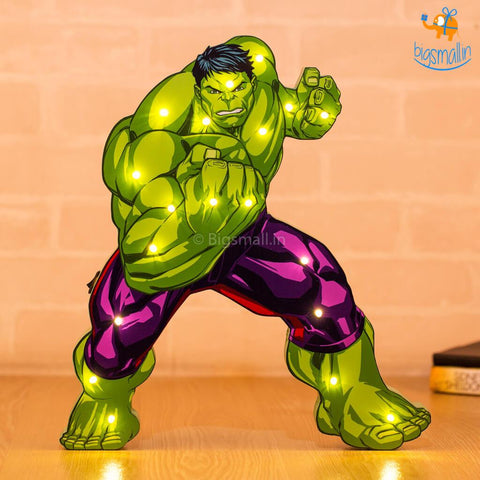 Hulk Wooden LED Lamp - bigsmall.in