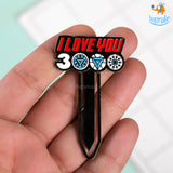 Love You 3000 Metallic Bookmark