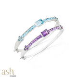 Whimsical Semi-Precious Bracelet Bangle