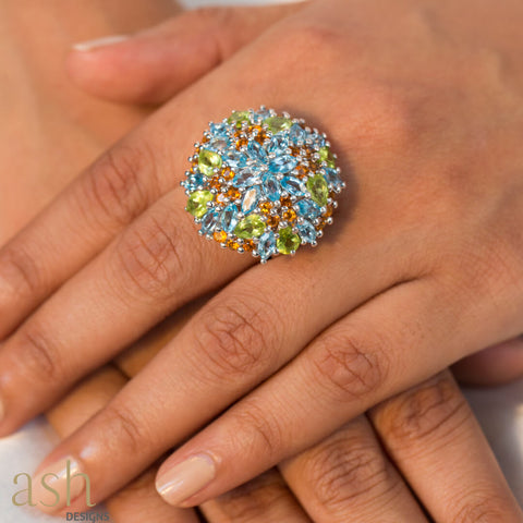 Bora Bora Cocktail Ring - Semi Precious