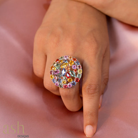 Garden Of Eden Cocktail Ring - bigsmall.in
