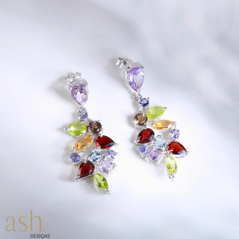 Dancing Spring Gemstone Earrings