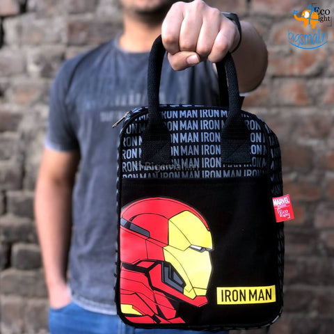 Iron Man Canvas Lunch Bag - bigsmall.in
