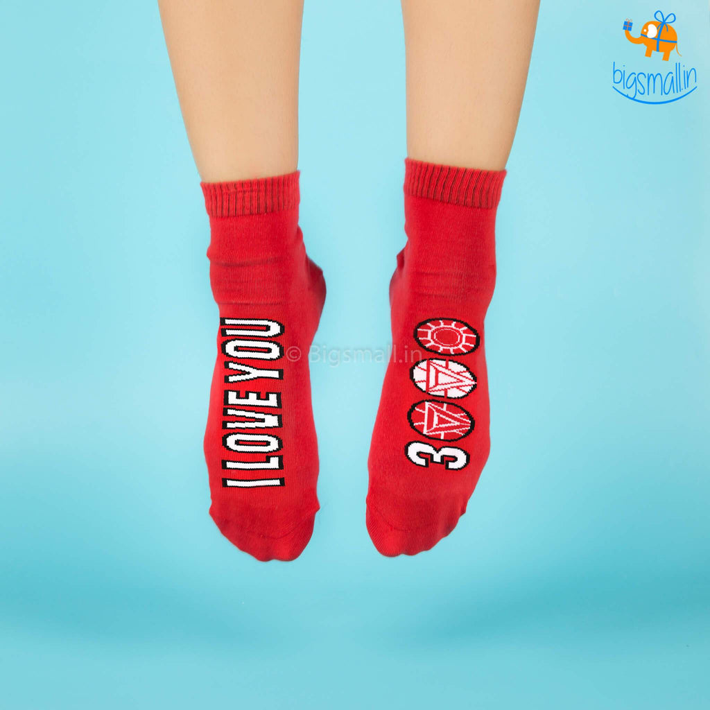 I Love You 3000 Socks - Iron Man - bigsmall.in