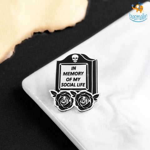 In Memory Of My Social Life Lapel Pin - bigsmall.in