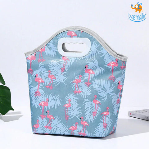Insulated Flamingo Lunch Bag - bigsmall.in