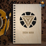 Avengers Superhero Engraved Wooden Diary - bigsmall.in