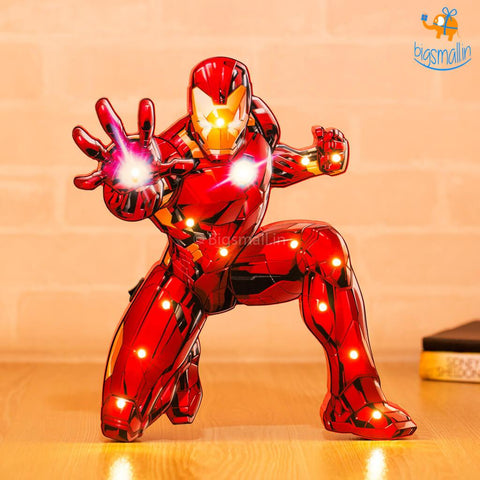 Iron Man Wooden LED Lamp - bigsmall.in