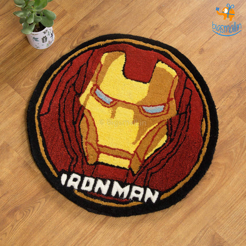 Handcrafted Iron Man Rug - bigsmall.in