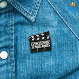 Movie Quotes Metallic Lapel Pin