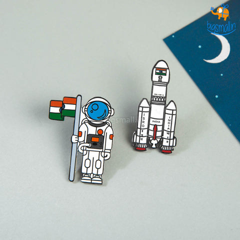 ISRO India Lapel Pin - Set of 2