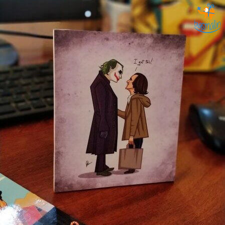 Joker Meets Joker Mini Poster