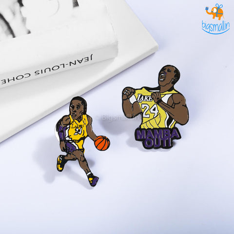 Kobe Bryant Lapel Pins - Set of 2