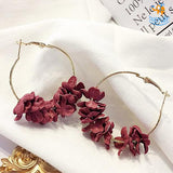 Korean Flower Art Earrings - bigsmall.in