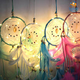 Handmade Dreamcatcher with LED Lights