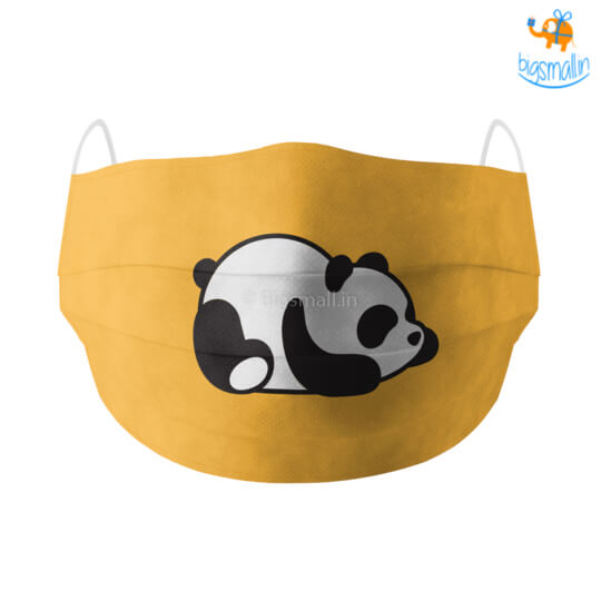 Lazy Panda Cotton Mask With Filter