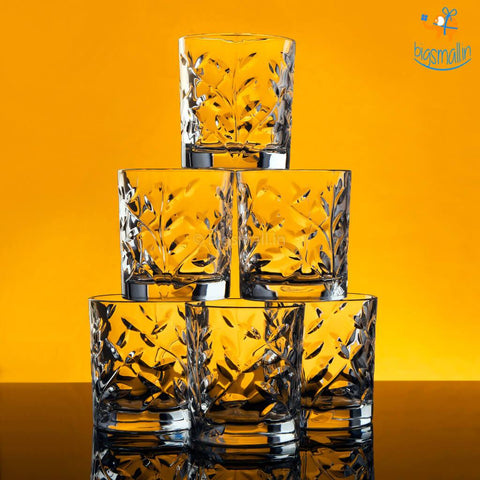 Autumn Leaves Whiskey Glasses - Set of 6 - bigsmall.in