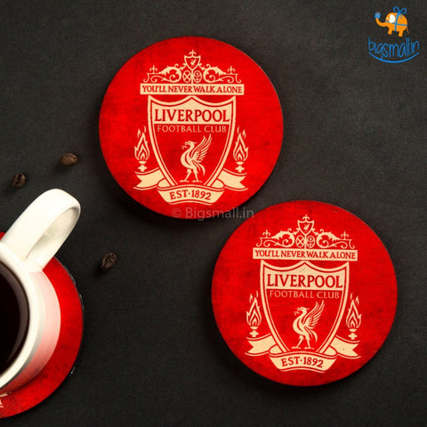 Liverpool Wooden Coasters - Set of 4 - bigsmall.in