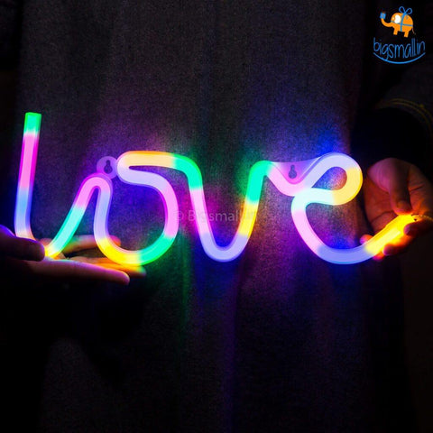 Multi-Colored Love LED Neon Lamp - bigsmall.in