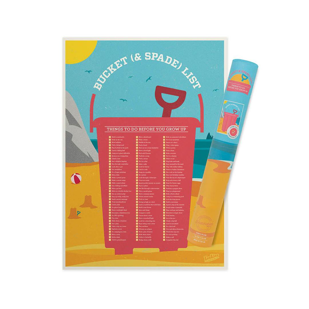 Bucket and Spade Scratch Poster - bigsmall.in