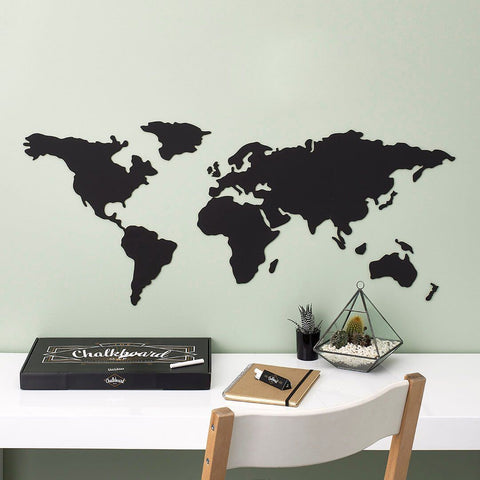 Chalkboard Map DIY - bigsmall.in