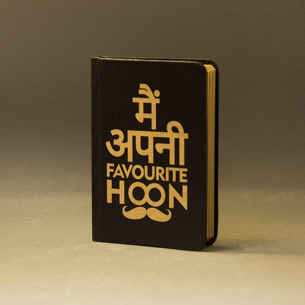 Main Apni Favourite Hoon A6 Notebook With Elastic - bigsmall.in