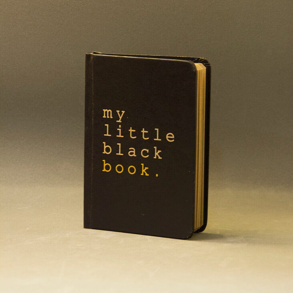 Little Black Book A6 Notebook With Elastic - bigsmall.in