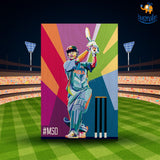 M S Dhoni Printed Wooden Frame ( 17.6 x 11.6 inches) - bigsmall.in