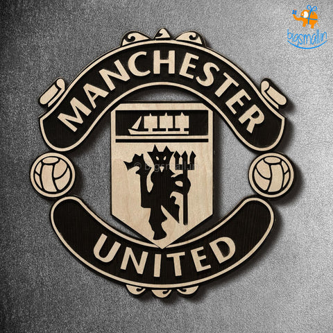 Manchester United Engraved Wooden Crest