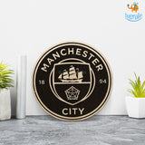 Manchester City Engraved Wooden Crest - bigsmall.in