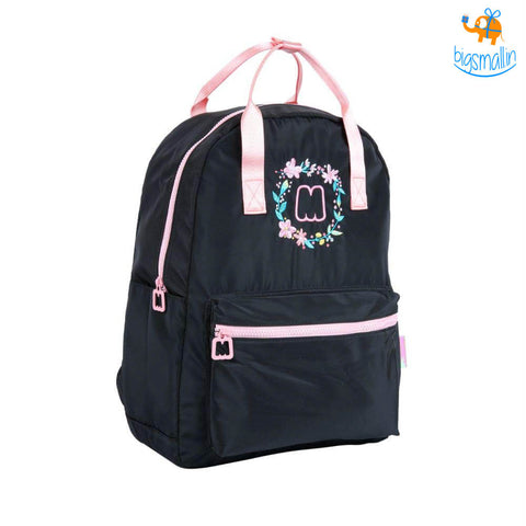 Floral Black Casual Backpack