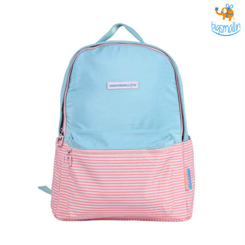 Pink & Blue Casual Backpack