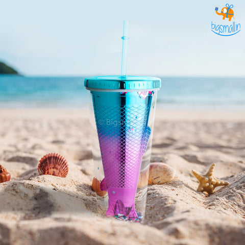 Mermaid Sipper With Straw - bigsmall.in