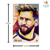 Footballer Printed Wooden Poster - bigsmall.in