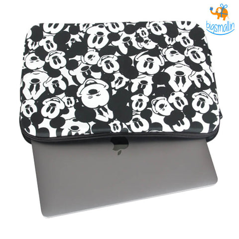 Mickey Mouse Faces Laptop Sleeve