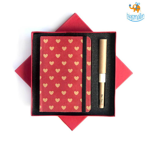 Heartilicious Diary & Pen Set - bigsmall.in