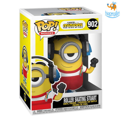 Roller Skating Stuart - Minions 2 3D Funko POP Action Figure