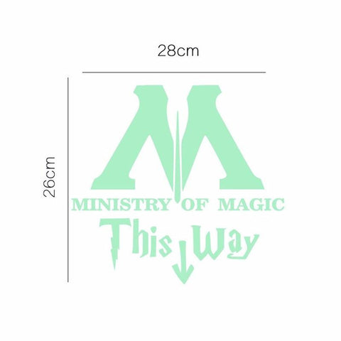 Ministry of Magic Decal Sticker - bigsmall.in
