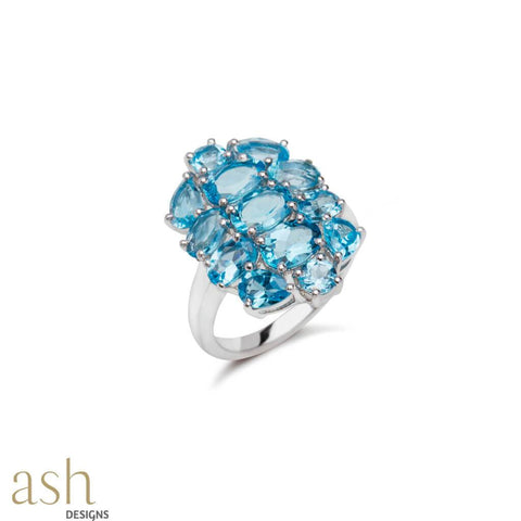 Mirissa Blue Topaz Gemstone Ring - bigsmall.in