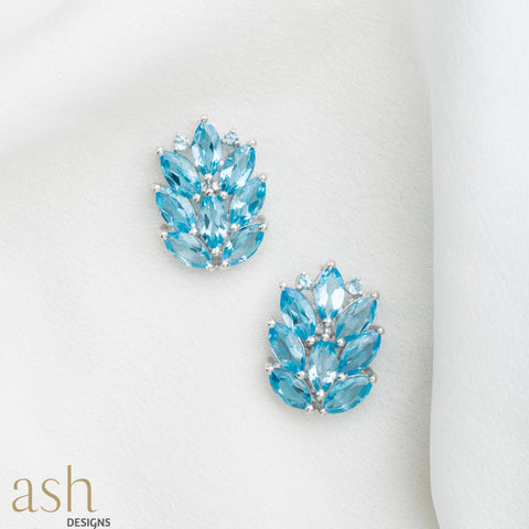 Mirissa Blue Semi-Precious Stud Earrings
