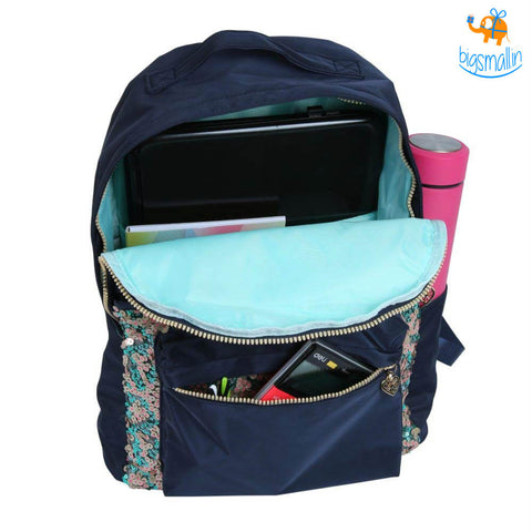 Duo Sequins Navy Backpack