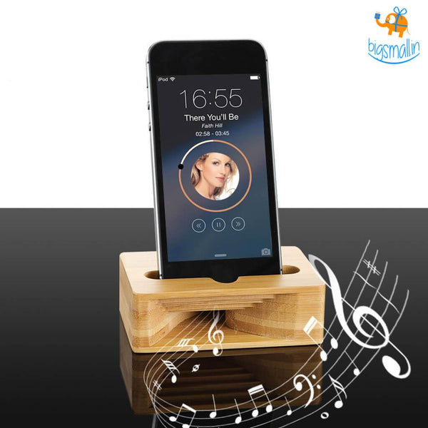 Mobile Stand with Amplifier - bigsmall.in