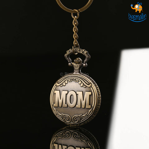 Vintage Mom Pocket Watch Keychain - bigsmall.in