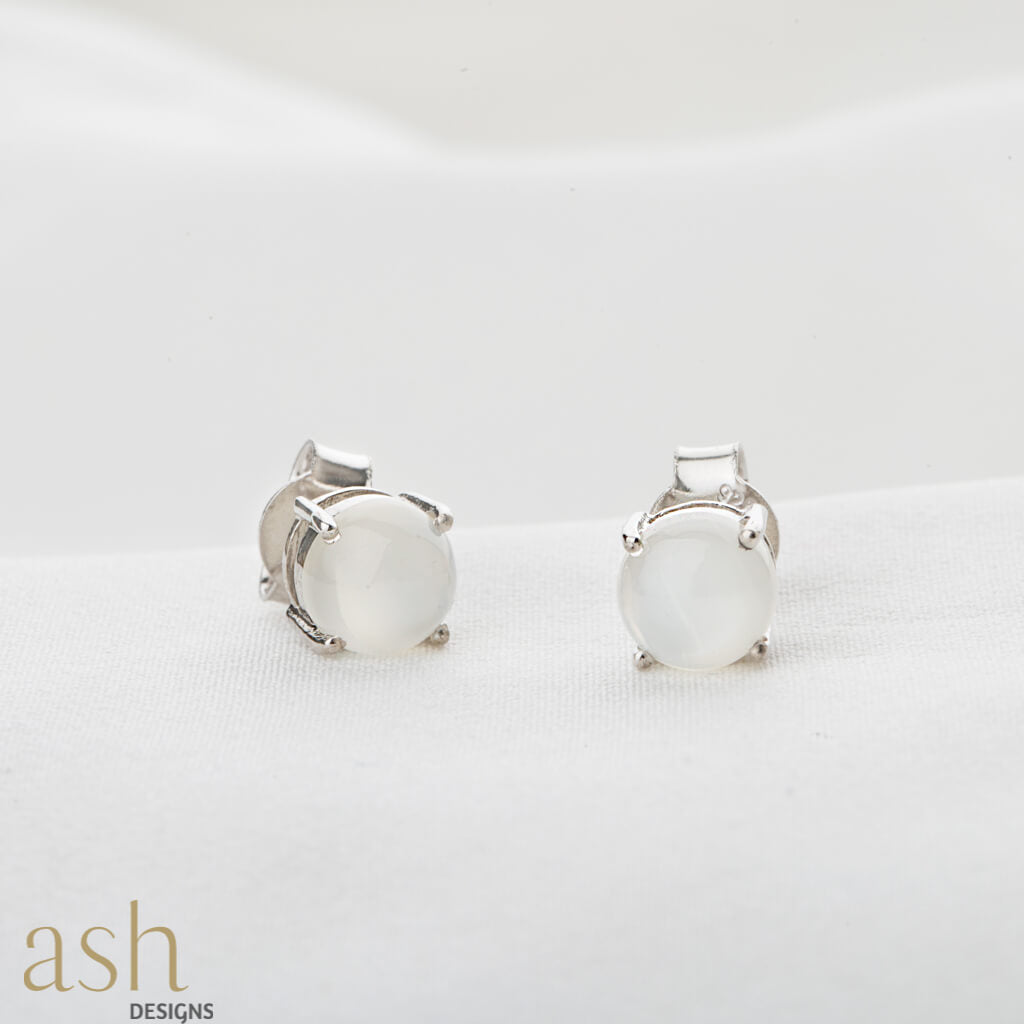 Moonstone Earring Studs