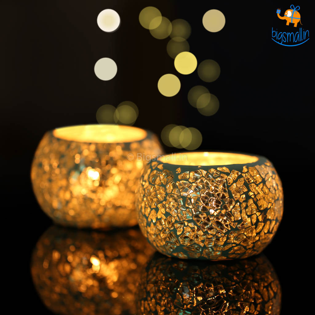 Mosaic Candle Holder - Set of 2