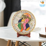 Hand painted Decorative Plate with Stand