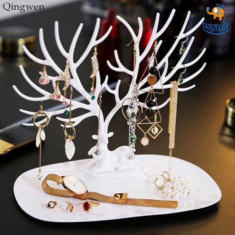 Antler Shaped Multipurpose Jewellery Organizer - bigsmall.in